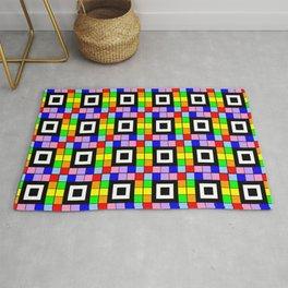 optical pattern 35 rainbow Rug