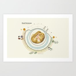 Hazel Dormouse Art Print
