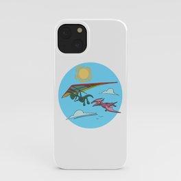 Hang Glider Dinosaur iPhone Case
