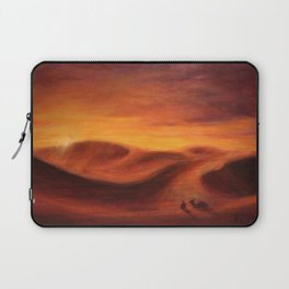 Sunset in the dunes of Sahara desert Laptop Sleeve