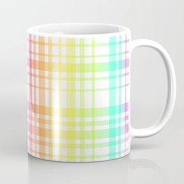 Light Rainbow Plaid Coffee Mug