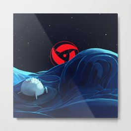 moon sharingan Metal Print