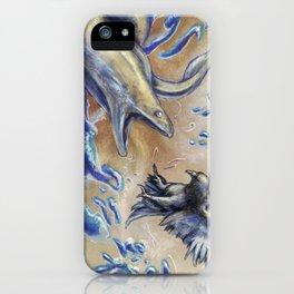 Eel vs. Pigeon iPhone Case
