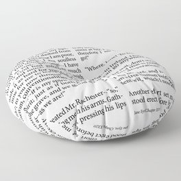 Jane Eyre Book Page Chapter Floor Pillow