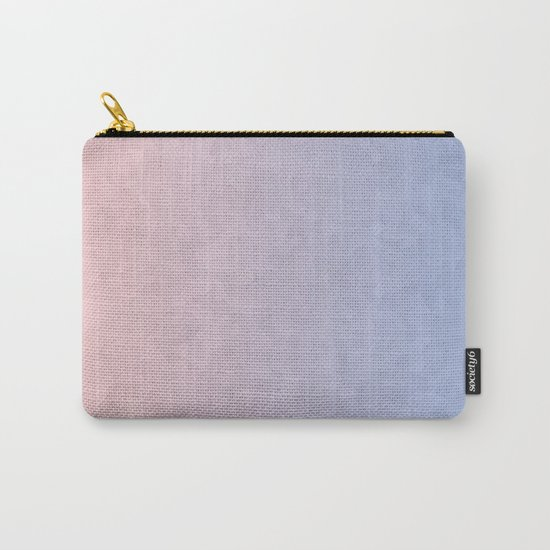 Rose Quartz and Serenity Mosaic Crystals Carry-All Pouch