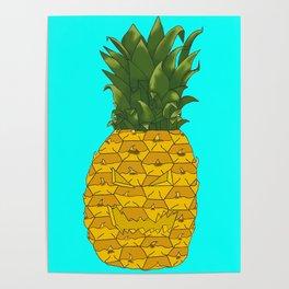 Single Pineapple Jack-o-Lantern  Poster