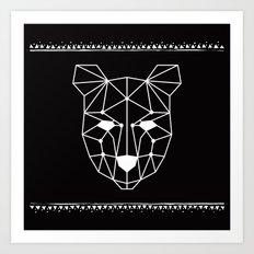 Totem Festival 2015 - White & Black Art Print