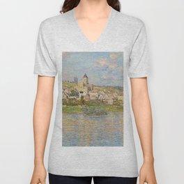 Vetheuil by Claude Monet Unisex V-Neck