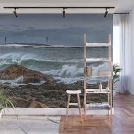 Waves on the back shore 1-30-18 Wall Mural