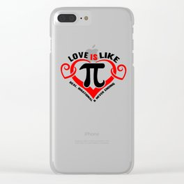 Math Love Irrational endless wordplay gift Clear iPhone Case