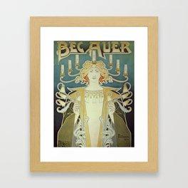 Vintage poster - Bec Auer Framed Art Print