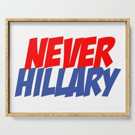 Never Hillary (White) Serving Tray
