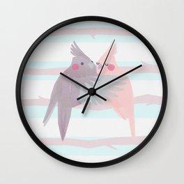 Cockatiels Wall Clock
