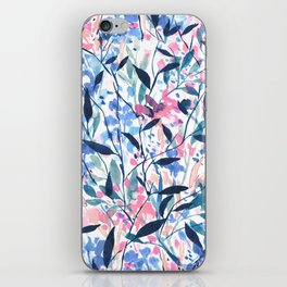 Wandering Wildflowers Blue iPhone Skin