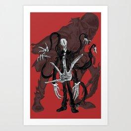 Meet Slenderman Art Print