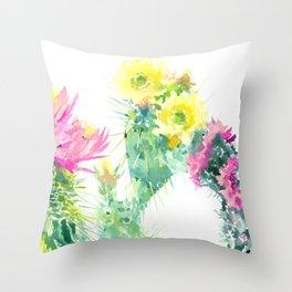 Cacti Succulents, Desert design Arizona Cacti Southwestern Art Throw Pillow