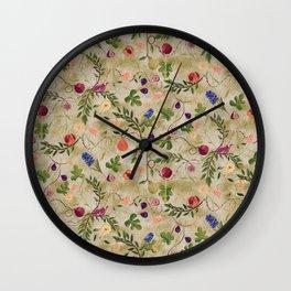 Vanitas Chintz Wall Clock