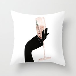 Champagne Chic Throw Pillow