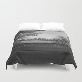 Hatching the Gate Duvet Cover
