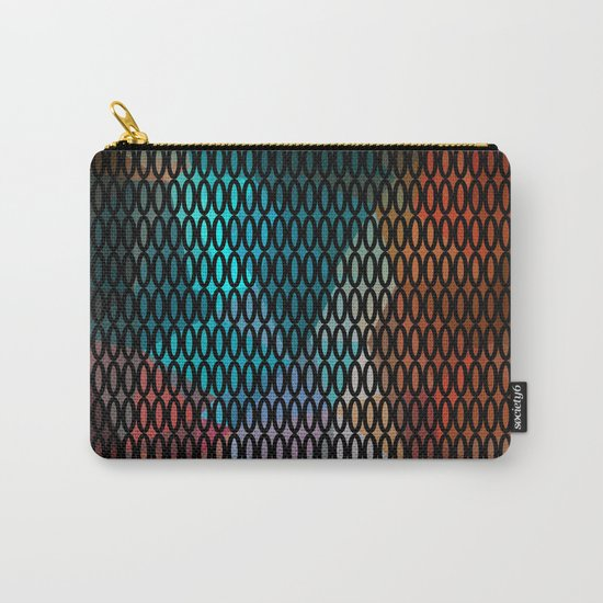 Abstract background of triangles polygon print. Bright dark design colors Carry-All Pouch