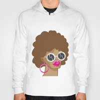 afro Hoodies featuring Afro by Zenga N