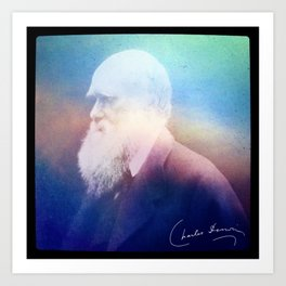 Heart Of Stone. Darwin. 1809-1882. Art Print