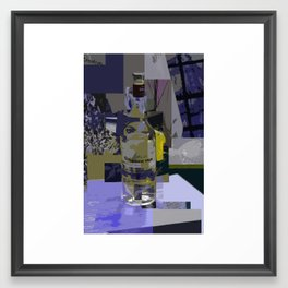 On The Table Yellow Framed Art Print