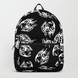 Scream in Black Backpack