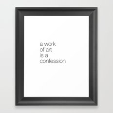 work of art Framed Art Print