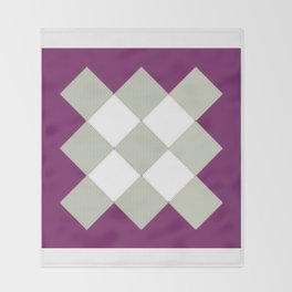 """Geometric Print """"Quilted"""" Throw Blanket"""