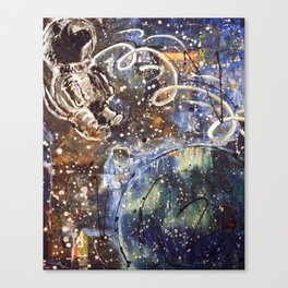 the Dog Stayed in Space Canvas Print