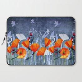 Summer night- Shadow of a Poppy meadow- Flowers Laptop Sleeve