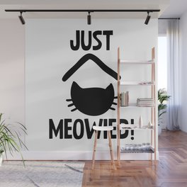 Just Married Cat Pun Wall Mural