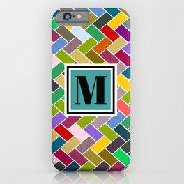 M Monogram iPhone Case