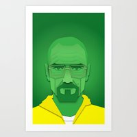 Chef White Art Print