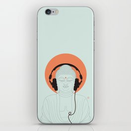 Buddha : Listen to Om! iPhone Skin