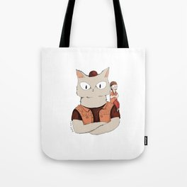 Walter the metal cat Tote Bag