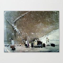 House Disaster Art -  Still Waiting Canvas Print