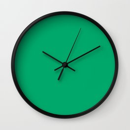Jade Green Wall Clock