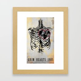 Grim Hearts 1985 Framed Art Print