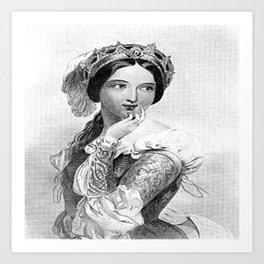 Princess of France Art Print