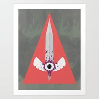 sword Art Prints featuring Dark Sword by Thomas Official