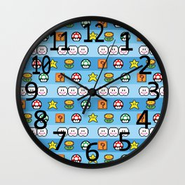 Pixel retro game Wall Clock