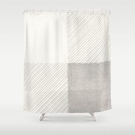 Buffalo Check Pencil Drawing Shower Curtain