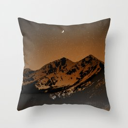Mountains at night series III // Boulder CO Throw Pillow