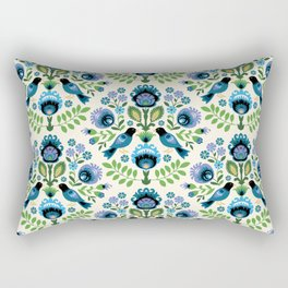 Polish Folk Birds Rectangular Pillow