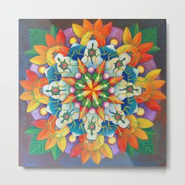 "Mandala ~ ""Changing Turtle Seasons"" Metal Print"