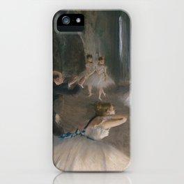Edgar Germain Hilaire Degas 1874 Rehearsal iPhone Case