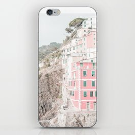 Positano, Italy pink travel photography in hd. iPhone Skin