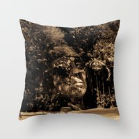puerto rico Throw Pillows featuring Cara del Indio, Isabela, Puerto Rico by Silmagerie